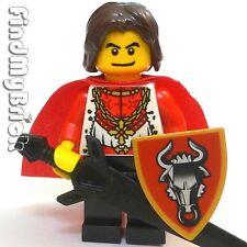 C375 Lego Castle Kingdom Golden Bull Knight Hero Minifigure NEW