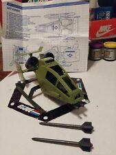 Vintage GI JOE - VEHICLE - 1984 Sky Hawk 100% Complete w/Blueprints - HASBRO