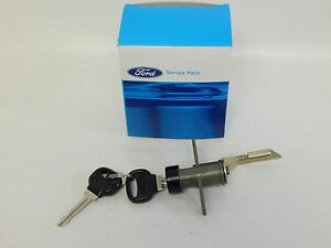 New OEM 1989-1992 Ford Probe Rear Trunk Hatch Key Lock Tumbler Kit Set 2 Keys!