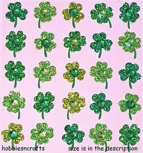 clover REPEATS Jolee's Boutique 3-d Stickers - Glitter Gemstone Lucky clover