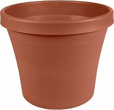 "Plastic Pot Planter 6"" Terra Cotta , Flower Floor Planter with Drainage Holes"