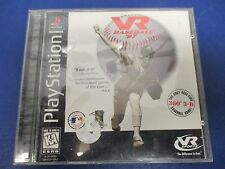 PlayStation 1, VR Baseball '97,Rated K-A.360 3-D Baseball Virtual Field Vision