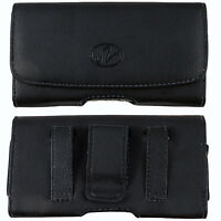 Leather Sideways Belt Clip Case Pouch Cover Holster For LG Cell Phones NEW!
