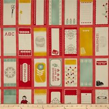Moda Eric & Julie Comstock Baby Jane Panel of Quilt Label Tags 37060-12 Fabric