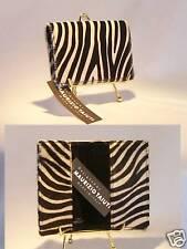 Maurizio Taiuti CALF FUR Zebra Print Passport Wallet