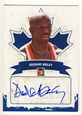 Donovan Bailey 2011 ITG Canadiana Autographed Auto Limited Card #A-DB1