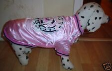 LOVELY PINK/DIAMANTE DOG COAT 16 INCH