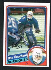 Dan Bouchard #128 signed autograph auto 1984-85 Topps Hockey Trading Card