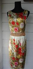 Nice Dolce & Gabbana Floral Silk Dress & Swarovski Pin 46 / 10 Made Italy $2695