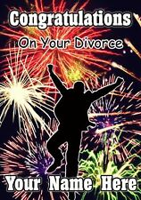 Personalised Mens Congratulations On Your Divorce Firework Greeting Card PIDV9