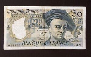 ANCIEN BILLET DE 50 FRANCS 1977 quentin de la tour  BE