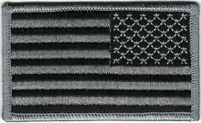 Urban Black Gray Grey United States US Shoulder Iron Sew On Reversed Flag Patch