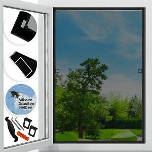 KESSER® Fliegengitter Insektenschutz Fenster Alurahmen Bausatz Mückenschutz Alu
