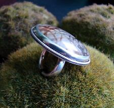 Sterling Silver .925 Ring Handcrafted Picasso Marble Ring Size 5