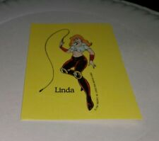 1989 Nintendo Of America  Video Game Sticker Linda Sexy Dominatrix with whip new