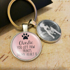 Personalised Photo Keyring Cats Dogs Pets Memory Loss Be Loved Presents Gifts UK