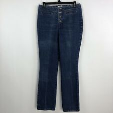 Guess Jeans Vintage Women Pants Cotton Straight Stonewashed Button Fly Size 30