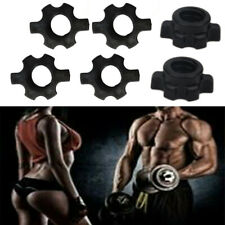 Dumbbell Bars Spinlock Collars Weight Spin Lock Screw Barbell Rod Clips HEX Nuts
