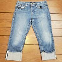 Women's Banana Republic Petites Sz 29/8P Jeans Pants Blue Capri