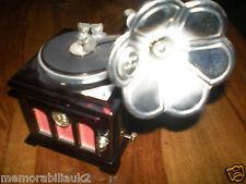Italian Sorrento  two drawer gramophone music box