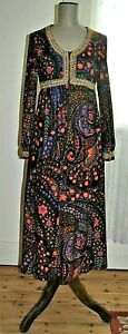 Vintage 60' MARK WARREN Design Empire Bodice Maxi Dress