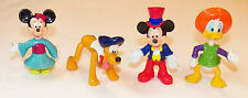 Mickey Minnie Mouse Epcot Disney PVC Figure B-Day Cake Topper Toy Pluto Donald