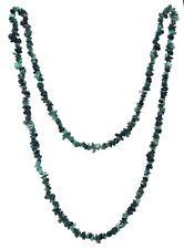 Edelstein Splitterkette lang Kette 90 cm Halskette endlos ohne Verschluss