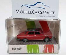"""Wiking Modelo Especial 1/87: Fiat 1800"""" Taxi """", Rojo/Negro - Edizione Italia"""