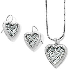 Brighton LOVE CAGED Heart Short Necklace & Earring Set TAGS DUST BAG 🎄🎄🎅$156