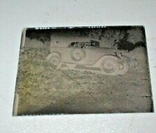 negativa fotografica su vetro originale anni '30 con FIAT TORPEDO 5 in PP
