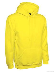 Ladies Plain Hoodie Unisex Loose Fit Size 8 to 28 Plus Hooded Sweatshirt NEW