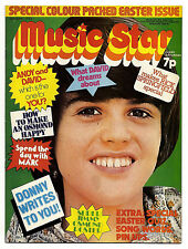 MUSIC STAR Magazine 28/4/1973 Marc Bolan  David Cassidy Donny Osmond