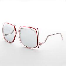 Rare Square Vintage Boho Sunglasses Corning PhotoSun Lens Burgundy -Twiggy