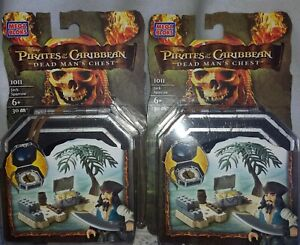 2 NEW Mega Bloks DISNEY PIRATES of the CARIBBEAN Jack Sparrow dead mans chest