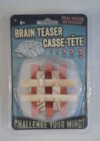 Brain Teaser 3D Real Wood Puzzle CHALLENGE YOUR MIND!