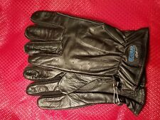 NOS O'NEAL BLACK SUMMER TOURING ROAD LEATHER ADULT GLOVES 0460-008 S SZ8