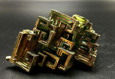 79g   Mystery of rare natural bismuth crystal square hole crystal cluster