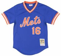 Mitchell and Ness New York Mets Dwight Gooden BP Mesh Baseball Jersey Mens Blue