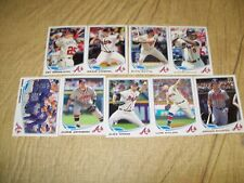 2013 Topps Update Braves 9 Card Team Set