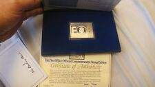 1977  SILVER JUBILEE STERLING SILVER 75 GR COMMEMORATIVE STAMPS