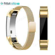 Gold Magnetic Loop Strap Stainless Metal Wrist Band For Fitbit Alta / Alta HR