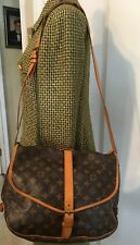 Authenticated Louis Vuitton Monogram Saumur 35cm Messenger/Crossbody Bag
