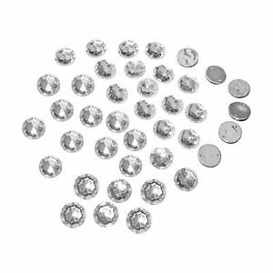 Round Shape Button Sewing Button Acrylic Cloth Decor Jewelry Button 190 Pcs MR11