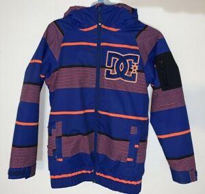 DC Troop Snowboard Jacket - Boys Size 8 - TANK STRIPE SHOCKING ORANGE