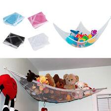 Kids Room Toys Stuffed Corner Net Large Storage Pet Plush Hammock Holder LN