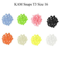 160pcs Kam Snaps T3 (Size 16) Button Stud Closures Snap Fasteners in 8 Colours