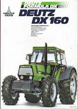 """Deutz """"DX 160"""" Tractor Brochure Leaflet"""