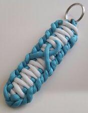 PTSD Ovarian Cancer Anti Bullying Awareness Teal Ribbon Loop Paracord Key Chain