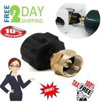 Propane Bottle Refill Adapter Kit 1 LB Small Cylinder Easy Fill Tank Proper Seal