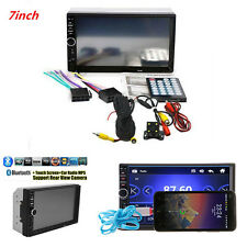 "7.0"" 2DIN Car Suv MP5 MP3 Player Bluetooth USB FM Stereo Radio Rear View Camera"